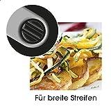 TV Unser Original 09873 Gourmet maxx Julienne und Spiralschneider, royal edelstahl -