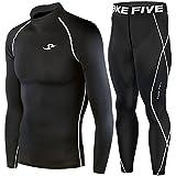 Take Fiveスポーツインナーウエア上下セット(Basic) (Black, S)