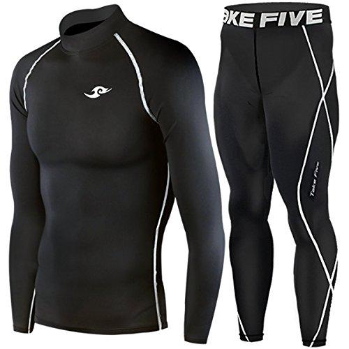 Take Fiveスポーツインナーウエア上下セット(Basic) (Black, M)