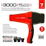 Title Change To:Tyche Professional Hair Dryer Turbo Jet 3000 Red (1 Year Warranty Included)