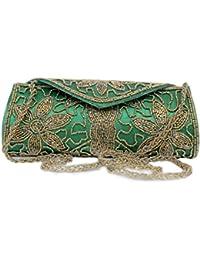 Handmade Purses Big Indian Ethnic Multi Coloured Patchwork Clutch Basket