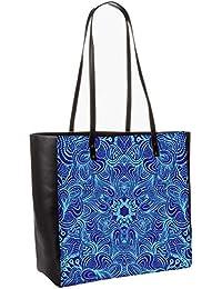Blue And Purple Obo, Shoulder Bag Tote Faux Leather Handbag Satchel Tote
