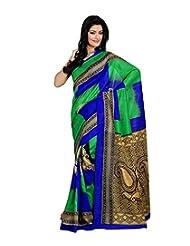Anu Designer Self Print Saree (6404A_Multi-Coloured)