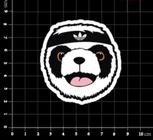 galleon adidas original jeremy scott panda bear logo classic original decal stickers