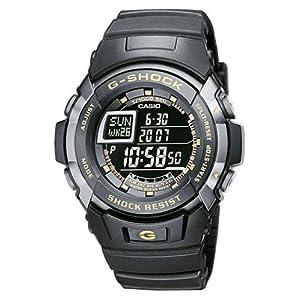 Casio - G-7710-1ER - Montre G-Shock - Acier et Résine - Quartz Digitale - Multifonctions -Sport - Chrono - Timers - Alarmes - Fuseaux Horaires - Etanche 20 ATM - Bracelet Caoutchouc Noir