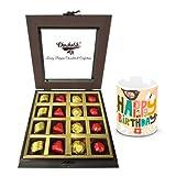 Rich Treat Of Wrapped Chocolates And Truffles With Birthday Mug - Chocholik Luxury Chocolates