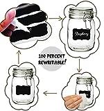 Laminas 50 Chalkboard Labels Kit Complete Bundle Pack Jars Tins or Any Other Storage Chalk Board for Your Home Office Kitchen Stickers Sticker Peel Stick Black Dishwasher Freezer Safe Kids Rewritable