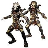 Neca AVP:Requiem Alien Vs Predator: Requiem Masked and Unmasked Predator Action Figures Set of Two