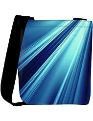 Snoogg Abstract Blue Pattern Design Designer Womens Carry Around Cross Body Tote Handbag Sling Bags - B01I1IQDJE