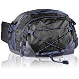 Basico Dual Hydration Fanny Pack Waist Pack (Holds Two Water Bottles -Black)