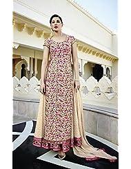 Pink Heavy Embroidered Lehenga Style Anarkali Suit