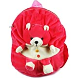 Vpra Enterprises Pink Bear Soft Toy School Bag For Kids, Travelling Bag, Carry Bag, Picnic Bag, Teddy Bag (Pink)