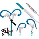 Trendy Zipper Secure-Fit Sports In-Ear Headset Earphones With Mic Compatible For Micromax A190 Canvas HD Plus/...
