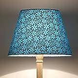 Craftter FLOWER DESIGN BLUE Colour FABRIC FLOOR Lamp Shade (CWFLS-26)