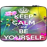 Snoogg Keep Calm And Be Yourself 12 To 12.6 Inch Laptop Netbook Notebook Slipcase Sleeve - B00NFNWOLC
