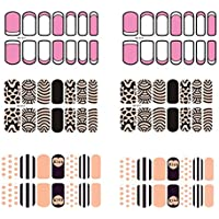[6 Sheet]Nail Art Sticker Nail Decal Full Nail Wrap Nail Art Tattoo Pattern C