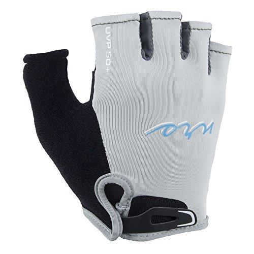 NRS Women's Half-Finger Kayak Gloves-Light Gray-XS