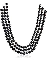 Mehrunnisa Fashion Triple Strand Tahitian Look Pearls Necklace For Women (JWL861)