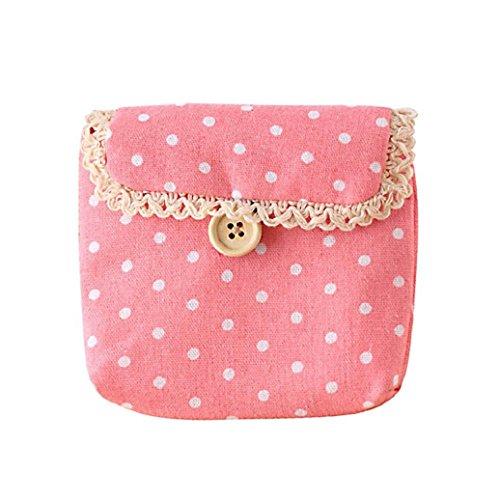 Gotoole Women Cotton Tampon Sanitary Pad Holder Bag