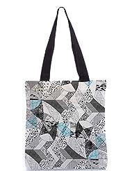 Snoogg Abstract Math Poly Canvas Tote Bag