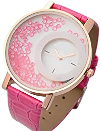 Rana Watches Womens Watch With Pink Moving Beads Inside For Women Or Girls Analogue Watch