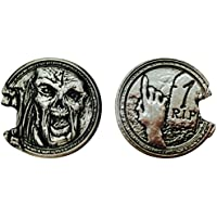 "Zombie ""1"" Pack (Set Of 10) Metal Adventure Coins For Rp Gs/ Larp