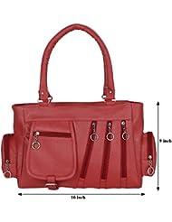 Kacey::Kacey Red Shoulder Bag::Kacey Shoulder Bag::Plain Shoulder Bag::Women Shoulder Bag::PU Shoulder Bag::Casual...