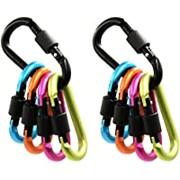 Generic Aluminum D-ring Locking Carabiner Keychain Spring Clip Lock Carabiner Hook Outdoor Camping Equipment - B01HM8PAIO