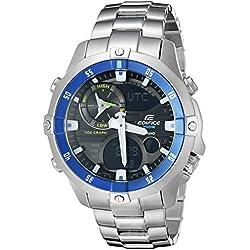 Casio Men's EMA-100D-1A2VCF Analog Display Quartz Silver Watch