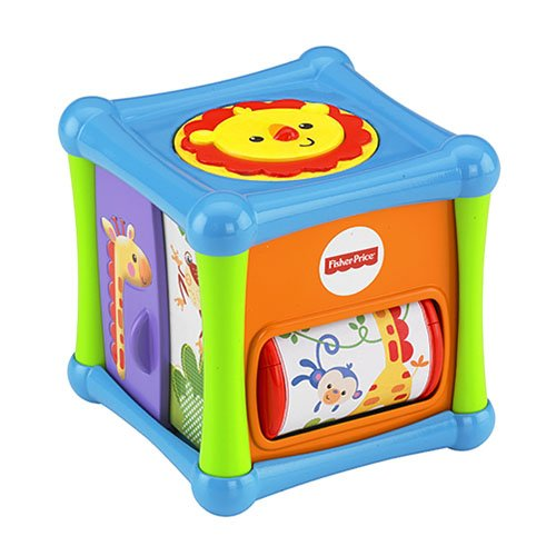 Fisher Price Growing Baby Animal Activity Cube, Multi Color