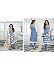 Typify Chanderi Semistitch Dress Material - B019BGG9J4