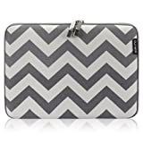 """Runetz - 15-inch Chevron Gray Soft Sleeve Case Cover For MacBook Pro 15.4"""" With Or Without Retina Display, Laptop..."""