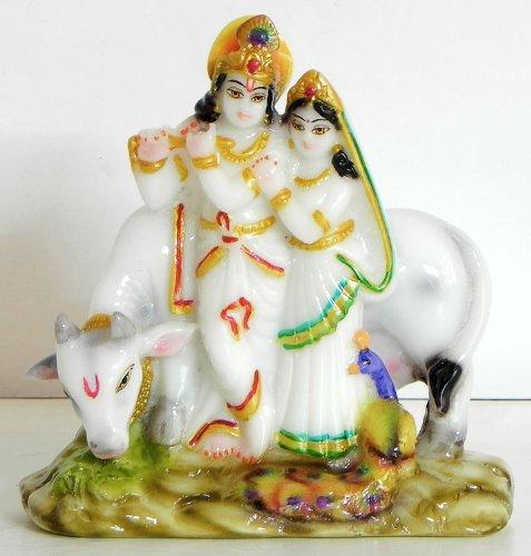 DollsofIndia Radha Krishna - The Divine Lovers - Marble Dust