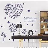 Decals Arts Flower TV Sofa Background Wall Sticker