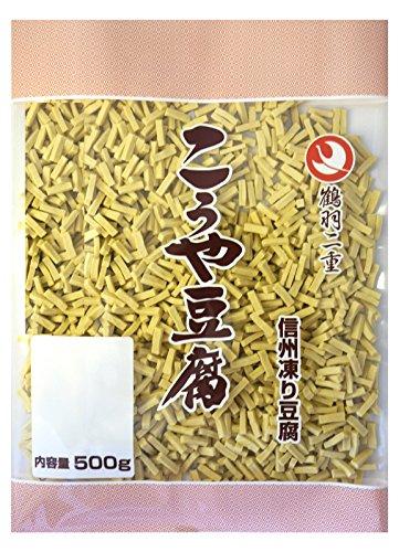 鶴羽二重高野豆腐1/156細切りカット 500g