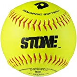 DeMarini Stone ASA Series Synthetic Leather Softball (12-Pack), 12-Inch, Optic Yellow, 12-Inch/Optic Yellow