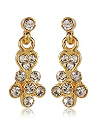 Estelle Gold Plated Dangling Earring With Crystals (424/715)