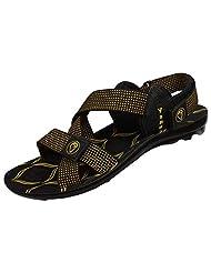 Venus PU Yellow Color Sandals For Men - (PU-1811-YELLOW)