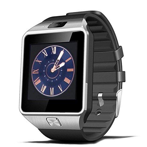 Ruichenxi SW01 Smartwatch DZ09 Bluetooth Montre Intelligente Bluetooth Montre Smart Watch avec caméra pour Smartphone Android Samsung S3 / S4 / S5 Note 2 / Note 3 Note 4 Huawei Xiaomi HTC LG Sony etcet fonctions partielles pour IOS Apple Iphone 6/6 Plus/5/5c/5s (Noir)