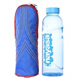 Combo Pack Of Handloom Hut Polyester Bottle Cover And A Bottle, 12.7 Cms X 25.4 Cms - B012TBVYNY