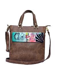 Hand-painted Abstract Glam Handbags