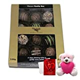 Valentine Chocholik Premium Gifts - Memorable Moments With Assorted Truffles With Teddy And Love Card