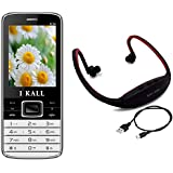 I KALL K34 With MP3/FM Player Neckband -Black
