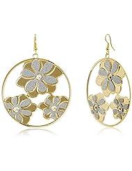 FoxySperks Brass Drops And Danglers Earring For Women (Golden) (LM159)