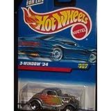 #257 3-Window 34 3-spoke Wheels Collectible Collector Car Mattel Hot Wheels