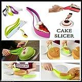 Plastic Kitchen Ergonomic Design Cake Pastry Server Cutter And Slicer(Assorted Color)