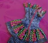 Barbie Jeans Week-End Fashions w Dress & Bermuda Shorts (1990 Arco Toys, Mattel)