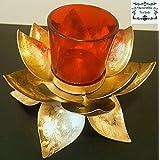 Decorative Buckets: LOTUS TEA LIGHT HOLDER With Glass Tea Light Holder: DIWALI GIFTS