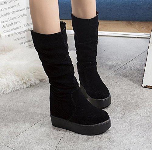 Erhöhte schwerem Boden Stiefel Frauen haarige Kugel feste Schuhe Schneeschuhe plus Samt innen dicke Kruste