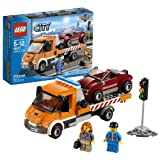 Lego Year 2013 City Series Vehicle Set #60017 Flatbed Truck With Tilting Tipper Bed And Working Winch Plus Car...